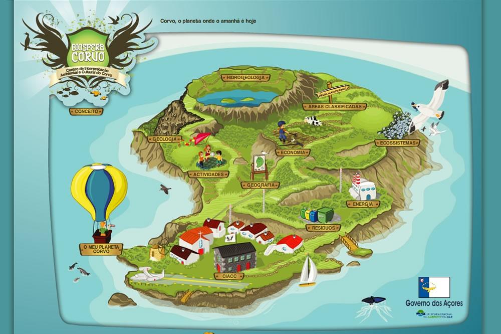mapa da ilha do corvo After You, Interactive Solutions   Corvo Planet mapa da ilha do corvo